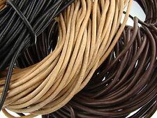 Lederschnur (ab 1,68€/m) Rund 6 mm. Lederband. Farbe/Länge: wählbar