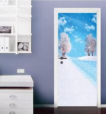3D Falling Snow Trees 5 Door Wall Mural Photo Wall Sticker Decal AJ WALLPAPER CA