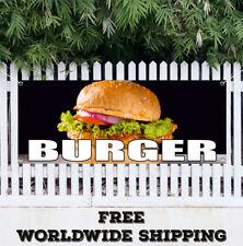Banner Vinyl Burger Advertising Sign Flag Steak Carnival Fair Food Restaurant
