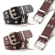 Adjustable Ladies Punk Chain Belt Eyelet Jeans Leather Buckle Belts Waistband