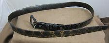 """Vintage Genuine Alligator on Cowhide belt  - Men's size 33-34"""""""