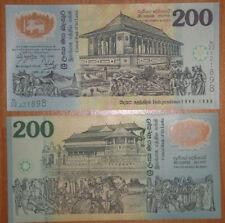 Sri Lanka Polymer Plastic Banknote 200 Rupees 1998 UNC
