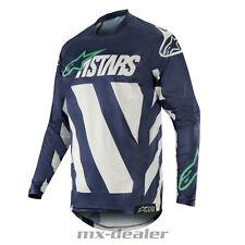 2019 Alpinestars Racer Braap Mx Motocross Cross Punto Marina Teal Camiseta Bmx