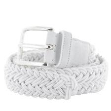 Fiori Di Lusso White Viscose Blend Braided Belt - (478)