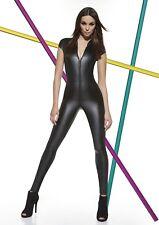Jumpsuit Catsuit Top Leggings Overall Kunstleder Figur Stretch Jump Suit ENYA