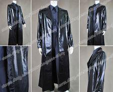 The Matrix Cosplay Neo Costume Snake Grain Leather Coat Shirt Pants Full Set New