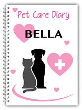 A5 personalizzato Pet diario, i vostri animali domestici diario, 50 foderato, Pet Health Care registro