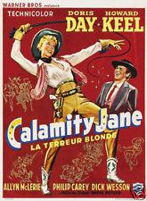 Calamity Jane Doris Day vintage movie poster