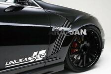 UNLEASHED Decal Sticker Sport car racing stripe emblem logo auto motorsport PAIR