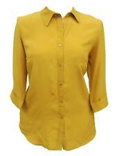 Womens 16 - 32 New Mustard Shirt 3/4 Sleeve Blouse Top Ladies *LICK*