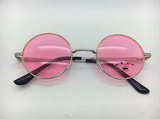 Marco de plata unisex con lentes de color John Lennon Tipo Gafas de sol redondas