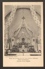 PONT-ROUSSEAU (44) ECOLE APOSTOLIQUE Interieur CHAPELLE