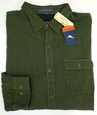 NWT Tommy Bahama Long Sleeve Green Check Shirt Mens XLT 2XB 2XT 3XB Button NEW