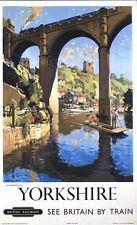 Poster Vintage British Rail Knaresborough Yorkshire A3/A2/A1 impresión