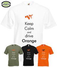 T Shirt KEEP CALM DRIVE ORANGE , für KTM, Adventure, Supermoto Enduro, Dirt Fans