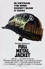 Full Metal Jacket 1987 Retro Movie Poster A0-A1-A2-A3-A4-A5-A6-MAXI 281