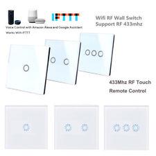 Ewelink Wifi RF 1/2/3 Gang Wireless Light Switch EU Plug+RF Touch Remote Control