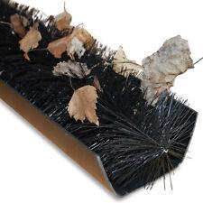 GroundMaster - Black Gutter Guard Brush - Drain Debris Downpipe Leaves Filter