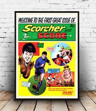 Scorcher & Score , Vintage Boys Comic cover Reproduction poster, Wall art.