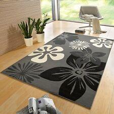 Designer Velours Teppich Flora Grau | 102400