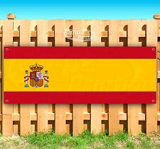 """Spain Flag Advertising Vinyl Banner Flag Sign 15"""" 18"""" 20"""" 30"""" 48"""" 52"""""""