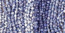 Blue White China Mixed Motifs 11mm - 12mm Round Ceramic Beads Q2 Strands