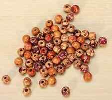 20 / 50 / 100x Holz Perlen farbige bunt - 10mm - Mix - Kugeln Schmuck Basteln