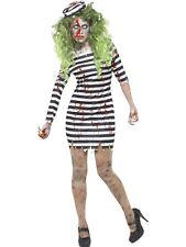Zombie Jail Bird Prisoner Costume Halloween Convict Blood Stained Dress