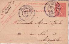 VAR-POURRIERES T84 DU 28-5-1906 SUR ENTIER SEMEUSE CART