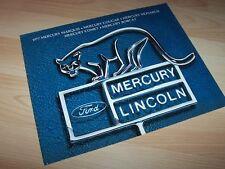 Catalogue / Brochure MERCURY Gamme / Full line 1977 USA //
