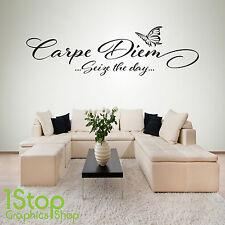 CARPE Diem cogliere la giornata di adesivi murali preventivo-BEDROOM SALOTTO Wall Art Decalcomania x218