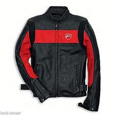 DUCATI Revit COMPANY ´14 Lederjacke Jacke Leather Jacket schwarz rot NEU !!