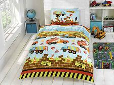 Construction Single Toddler Double Duvet Bedding Curtains Lighting - FREE P&P