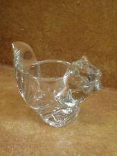 Avon Votive Holder Glass Squirrel Candle Bowl