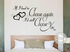 Romantic Bedroom Wall Sticker Still Choose You Love Quote Vinyl Decor Decal