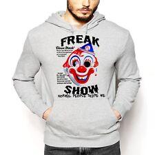 Creepy Clown Hoodie Halloween Psycho Evil Scary Sinister Dark Goth Horror tee