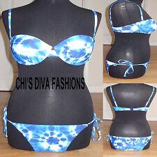 RESORT Tie Dye Halterneck Bikini Set Sizes 34C, 34D, 34DD