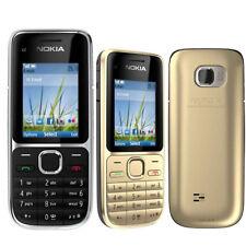 Nokia C Series C2-01 Black Gold Unlocked English Hebrew Thailand Keyboard Phone