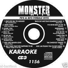 KARAOKE MONSTER HITS CD+G  70's & 80's FEMALE HITS   #1156
