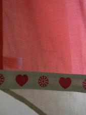 Gardine Vorhang Spitzpanneaux Batist Herz - Motiv rot sand Landhaus 80cm breit