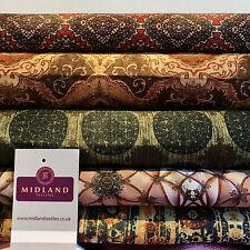 "Woven Tussar 100% Silk Printed dress and cushion Fabric 44"" M680 Mtex"