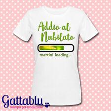 T-shirt donna Addio al Nubilato, martini Loading, cocktail personalizzabile