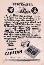 Original 1950s WILLS's 'CAPSTAN' Cigarettes ADVERT - 'September Poem' Print AD