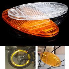 2x Bicycle Bike Spoke Reflector Safety Warning Light Wheel Rim Reflective Mount