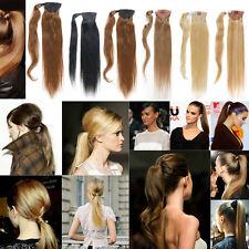 Hot selling High Straight Ponytail Human Hair Extensions 100% Human Hair 80g