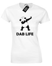 DAB LIFE PANDA LADIES T SHIRT COOL DABBING HIPSTER TUMBLR FASHION CULTURA RETRO