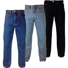 BIG SIZE 42 - 48 Hard Wearing REGULAR FIT Tough Mens WORK JEANS Large Blue Pants