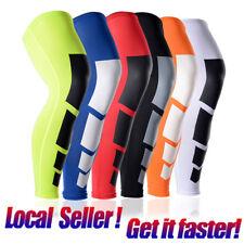 Youth Men Basketball Knee Support Sports Leg Long Brace Sleeve Compression Socks