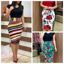 Women Plus Size Slim Hip Dress Elegant Short Sleeve Floral High Waist Bodycon