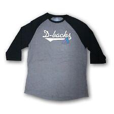 Arizona Diamond Backs Men's Majestic Gray/Black 3/4's Sleeve T-shirt NWOT